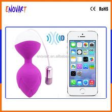 100% waterproof medicine grade silicone mobile controled vibrator