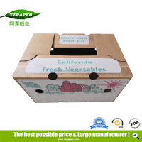 Color Print Fresh Vegetable Packaging Corrugated