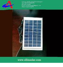 2W poly solar panel for 6V battery