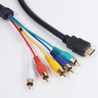 1.5m HDMI Male to 5RCA 5-RCA Audio Video AV Component Cable Gold Plated
