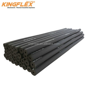 Kingflex NBR/PVC rubber foam heat insulation tube (pipe) for HVAC product material for air conditioner
