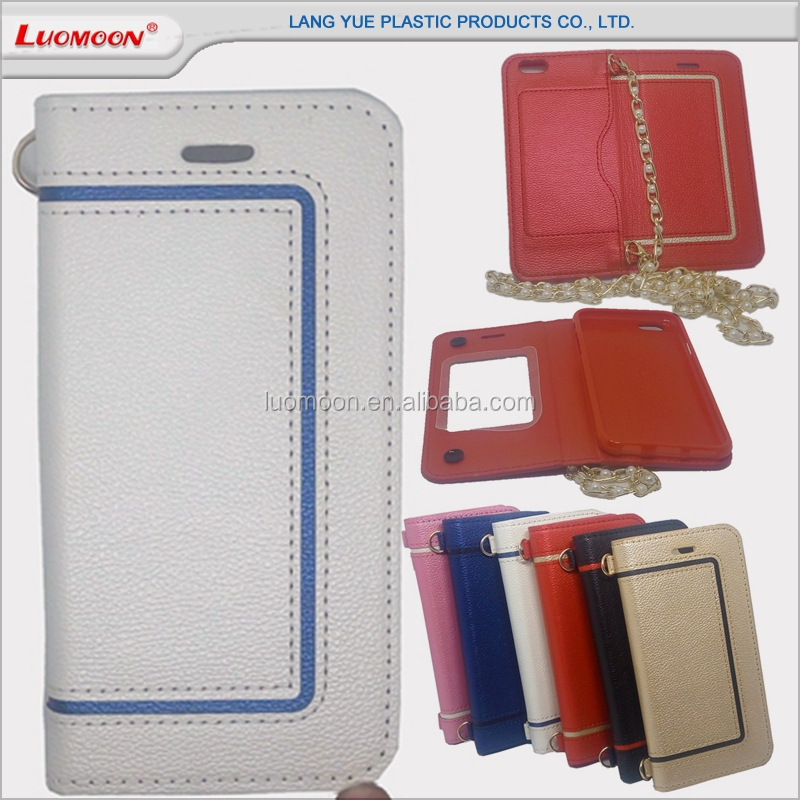 with cosmetic mirror inclined shoulder phone bag leather flip case cover wholesale for huawei mediapad t1 y6 Y320/Y321 Y320 Y500