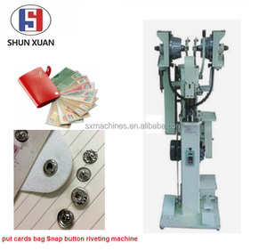 put cards bag Snap button riveting machine Snap Button Making Assembling Machine Automatic Snap Fastening Attaching Machine