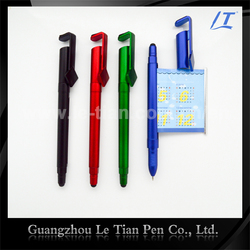 3 in 1 Fancy cheap plastic stylus touch ballpoint pen with advertisement banner