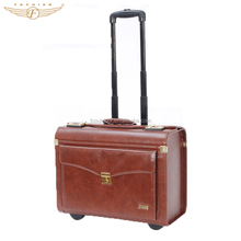 PU Leather 18 Inch Carry On Luggage