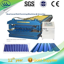 simple cut to length machine for rolled sheet metal for steel coils