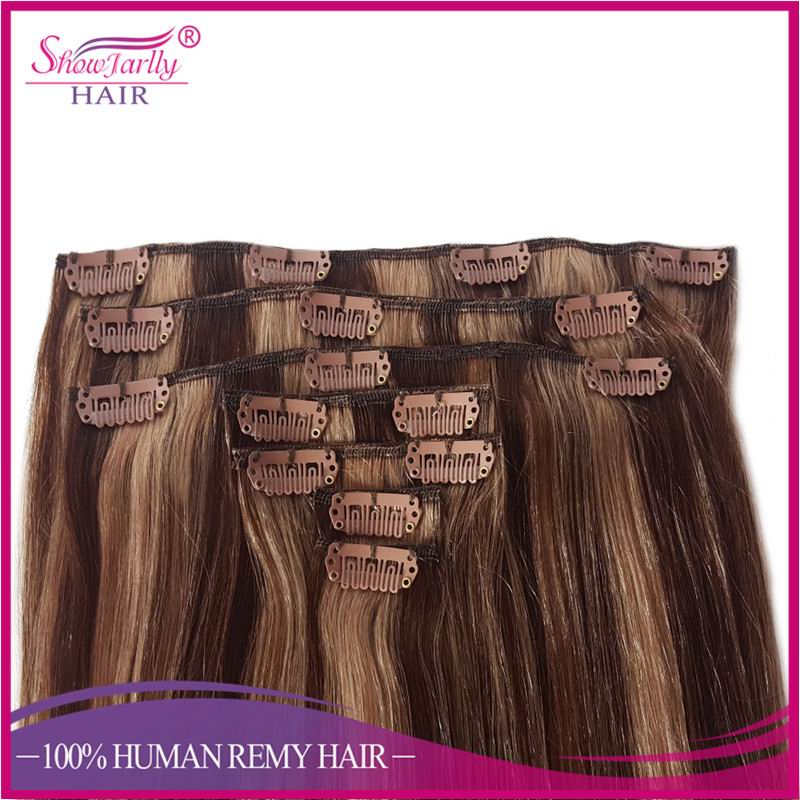 Quick supply piano color salon hair equipment 150g remy clip in hair extension clip in bangs human