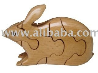 3d wooden puzzle_Rabbit