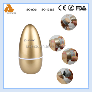 Egg shape vibration makeup powder puff with handle