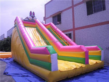obstacle inflatable slide, ZY-DS716 top quality fire truck inflatable slide