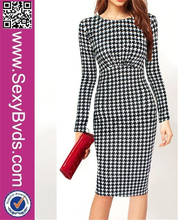 Wholesale Traditional Houndstooth Decent Dress