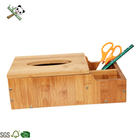 Eco-friendly Bamboo Car unique bamboo tissue box Rectangular napkin holder,Wooden Remote Box