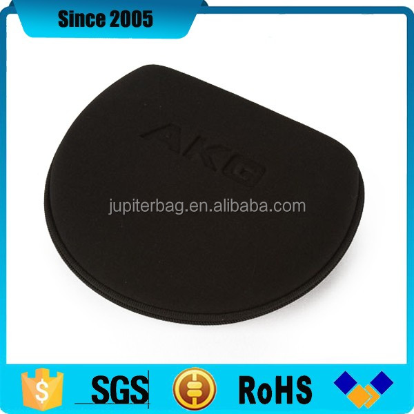 eva usb headset headphone case with debossed logo