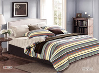 Colorful striped printed bedding set
