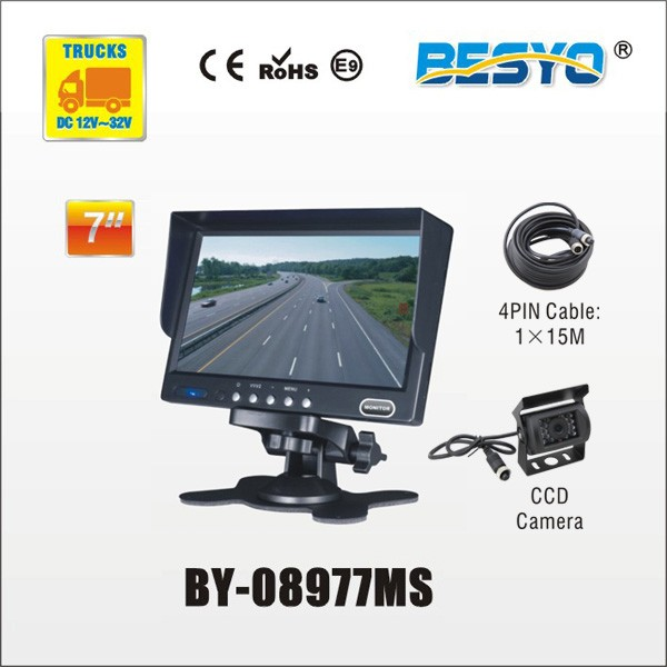 "7"" monitor and camera systems BY-08977MS"