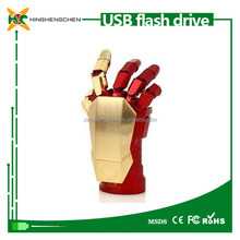Best selling best cool design Iron Man palm appearance for bulk usb pen drive