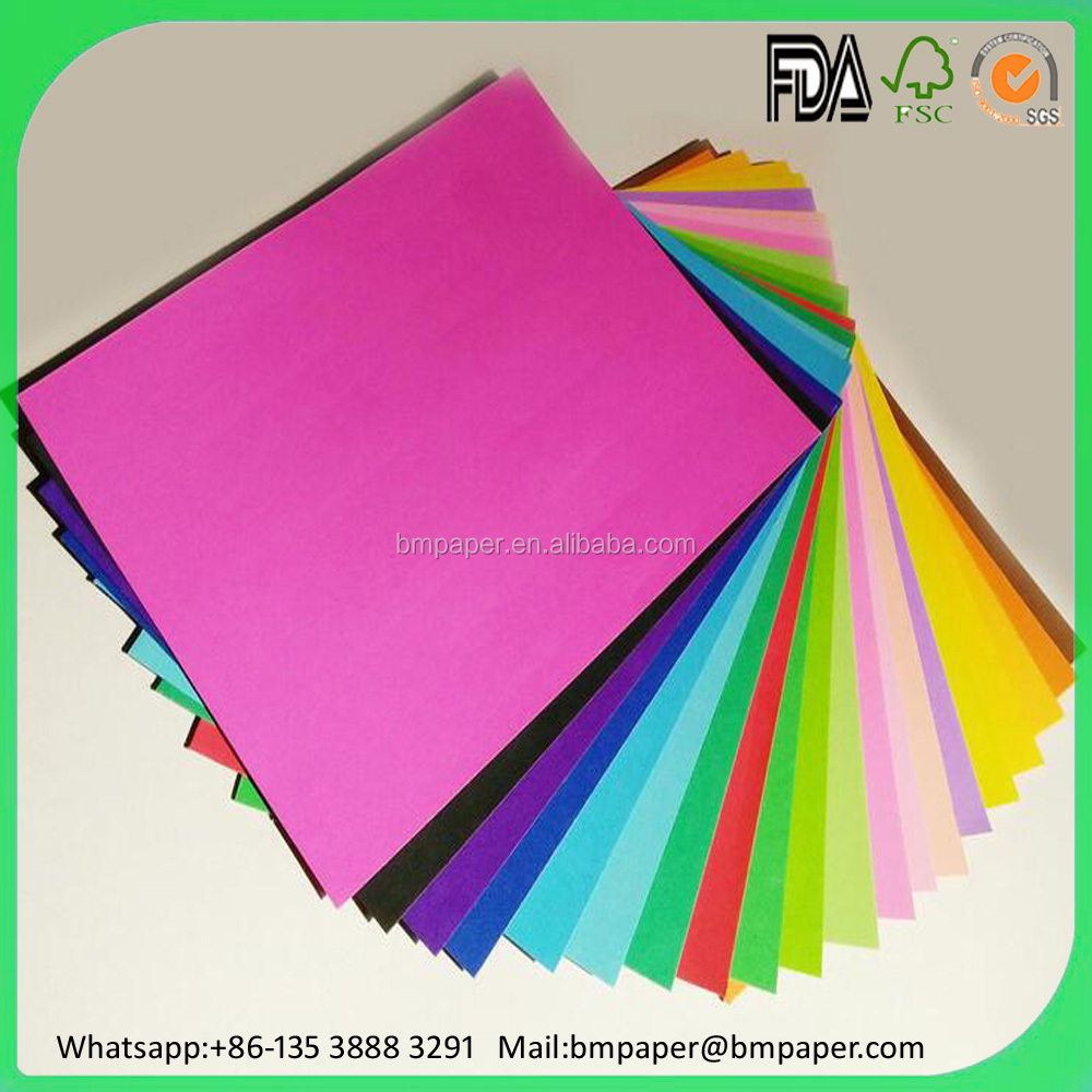 kids play color paper for decoupage / color cardboard for school supply