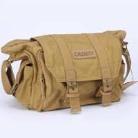 Newest Caden F1 Canvas Portable DSLR Camera Shoulder Bag Lens Pouch Carry Bag For Travels