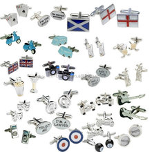 China manufacturer custom make your own logo, various shape cufflink, silver, gold cuff link as per your own design