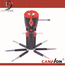QC-175B Multi screwdriver set with tape and leveling instrument/8 in 1 scrwdriver with torch