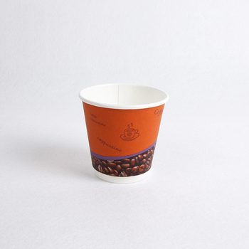 Disposable recycled colorful double wall coffee paper cup