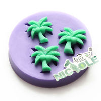 nicole silicone fondant molds cake decorating tool coconut palm tree F0663