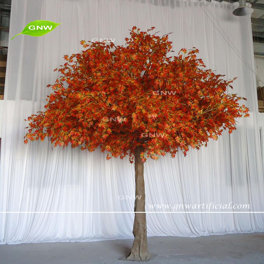 GNW BTRM1707002 Red wedding arrangement large maple outdoor artificial trees