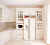 Country style white melamine kitchen cabinet pvc edge banding
