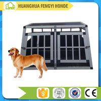 China Exporter Alu Dog Box For Car/Aluminum Dog Cage