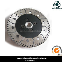 Flanged diamond saw blade for granite/marble with flange M14 center