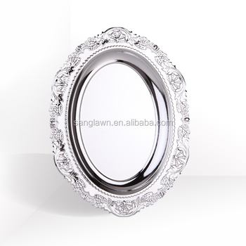 Bright metal plated souvenir plate for shopwindows decorations