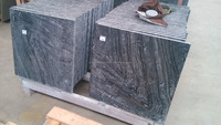 Polished chinese natural black forest marble ancient wood marble tile