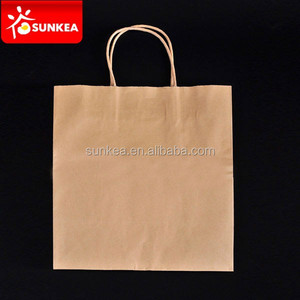 Carry to go kraft paper food packaging bag