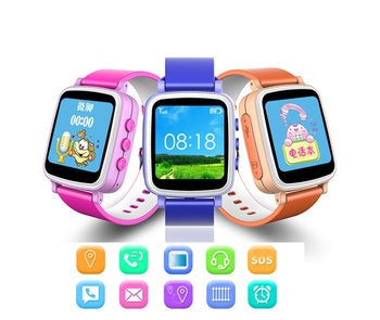 New Arrival Q60 GPS tracker kids cell phone watch with SOS emergency call