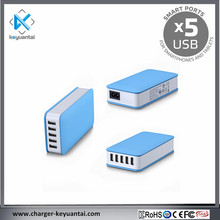 EU US UK AU KR AC Line Input 5USB Charger Station for mobile phone and tablets