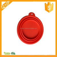 Non-toxic Pet Dog Cat Silicone Water Dish Feeding Bowl
