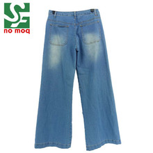 Hot Women Jeans Denim Overall Trousers Wide Leg Pants