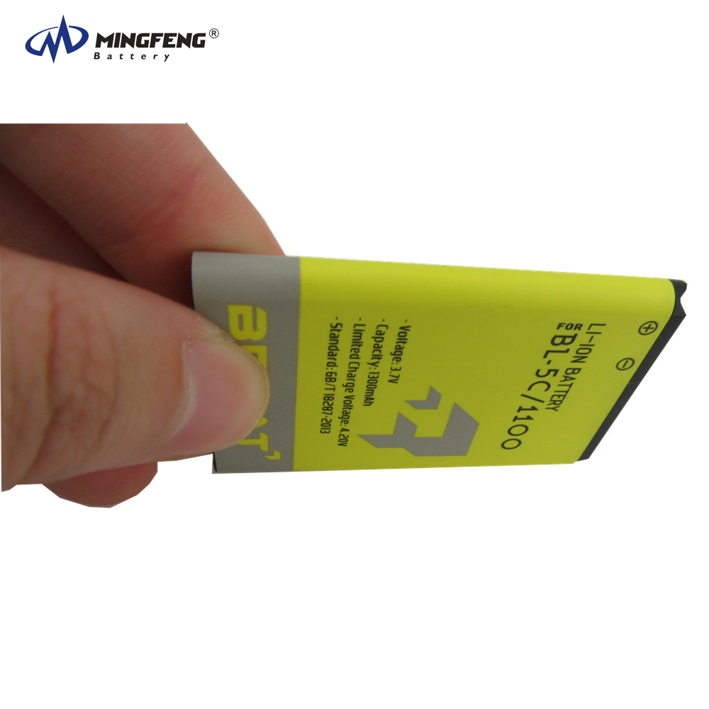 Li-ion battery 3.7V BL-5C battery replacement for Nokia 1100/1108/1110/1112/1116/1200