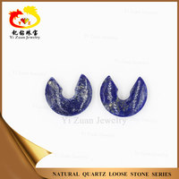 13.5mm U shape Natural rough large Lapis lazuli price for necklace making