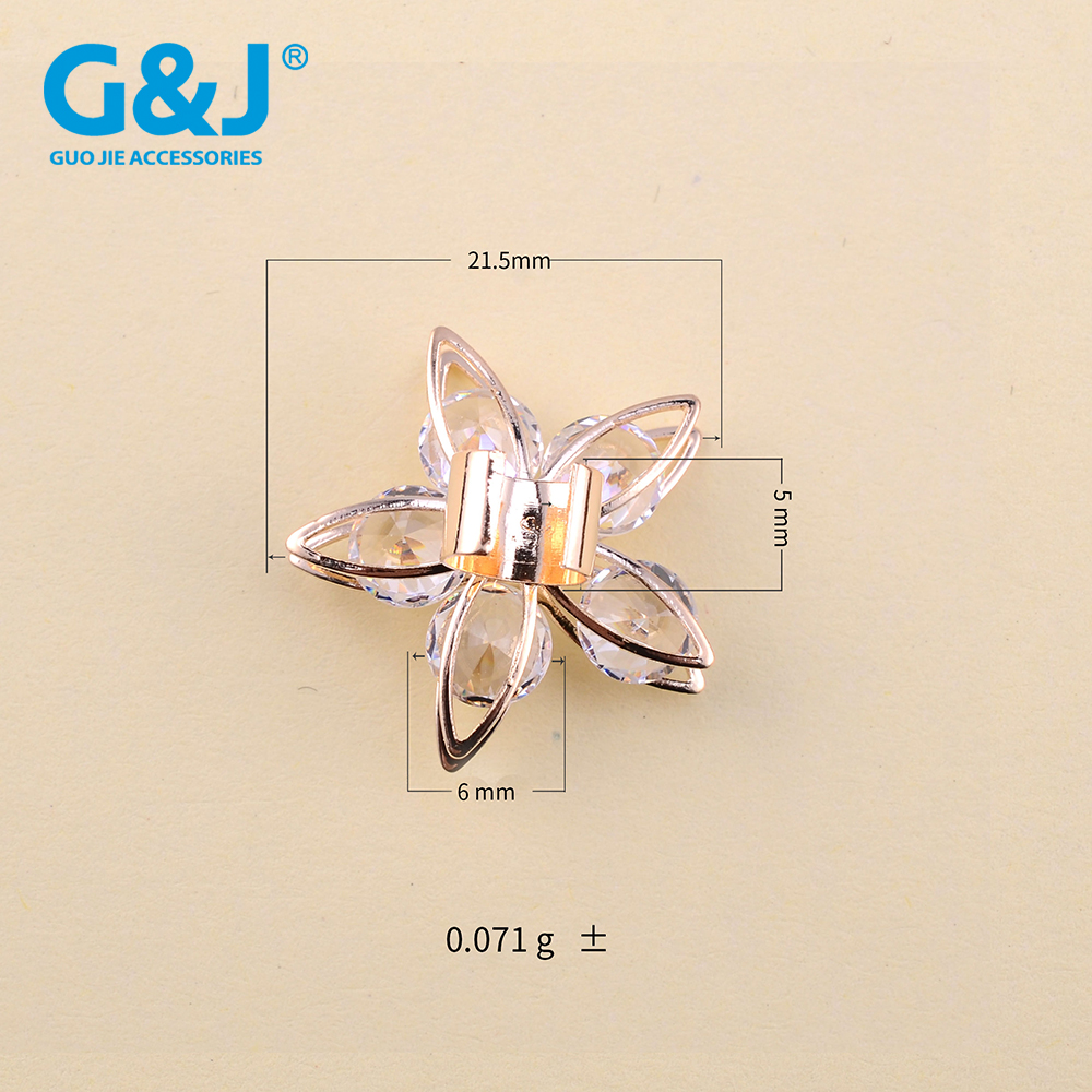 Fashion style crystal zircon stone bag buckles