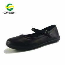Greenshoe chinese low MOQ black school uniform student shoes kids mary jane shoes school shoes girl