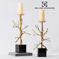 home decorative luxury neoclassical modern meta treel candle holder
