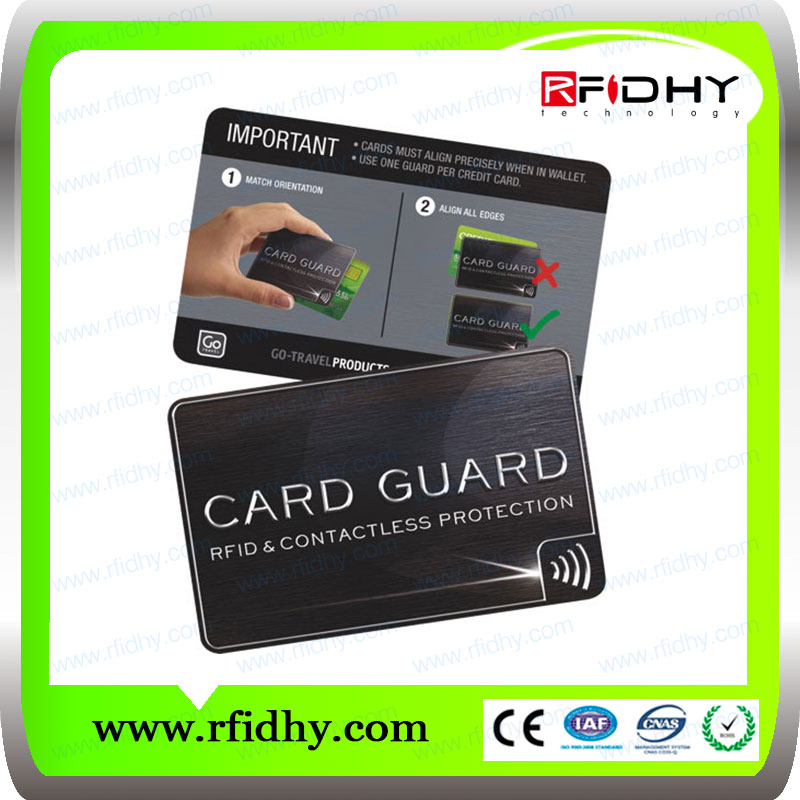 RFID blocking card for Identity theft protection