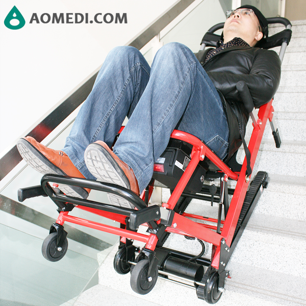 Folding Disabled Emergency Rescue Motorized Stair Climbing Chair