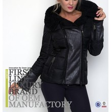 Latest European Commendable Leather Style Women Goose Down Jacket For Winters Fox Fur Collar