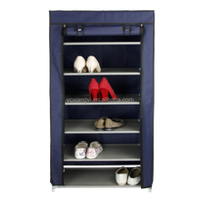 Strong Fabric Closet Shoe Cabinet Storage Tower Organizer with Drop Front Cover