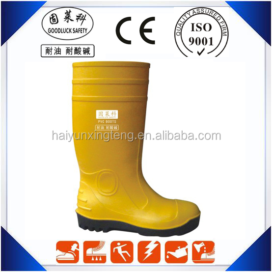 Anti-Corrosion Mining Boots PVC Foot Protection Boots