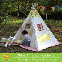 Cotton canvas Indian child tent indoor/outdoor playhouse baby& kids play tent