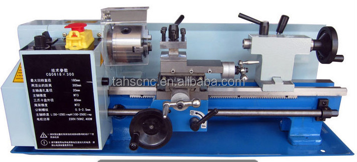 Dimension size 810.*310*320mm CQ0618*300 Mini lathe machine from tai an hai shu