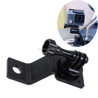 Automobiles motorcycles accessories aluminum Motorcycle Bike Rear View Mirror Bracket Camera Mount Holder for GoPro SJ4000 Hero